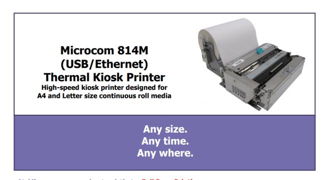 wide format kiosk printer