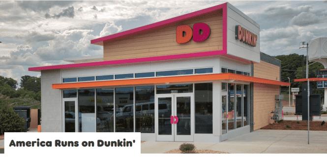 dunkin donuts kiosk