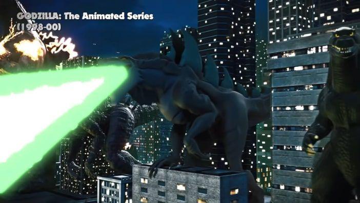 aliento atómico verde de Godzilla