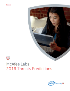 McAfee Labs Report 2016 Threats Predictions cover
