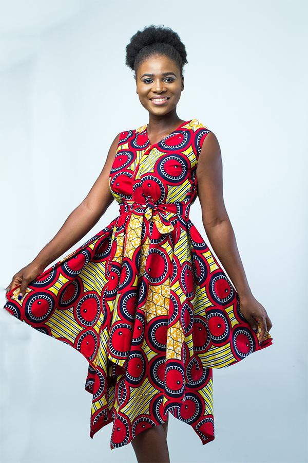 african fashion stylish midi dress  kipfashion  african