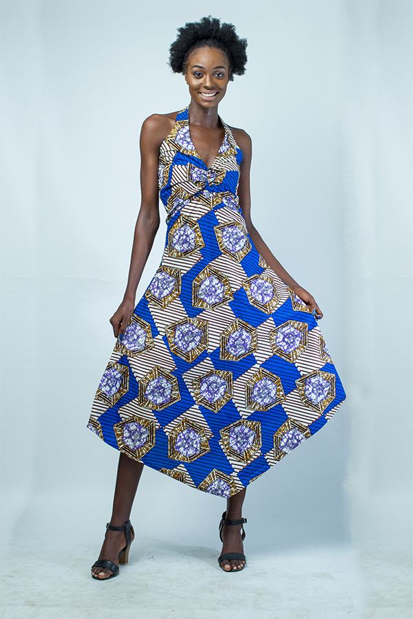 Traditional Nigeria Ankara print ladies dress - Kipfashion ...