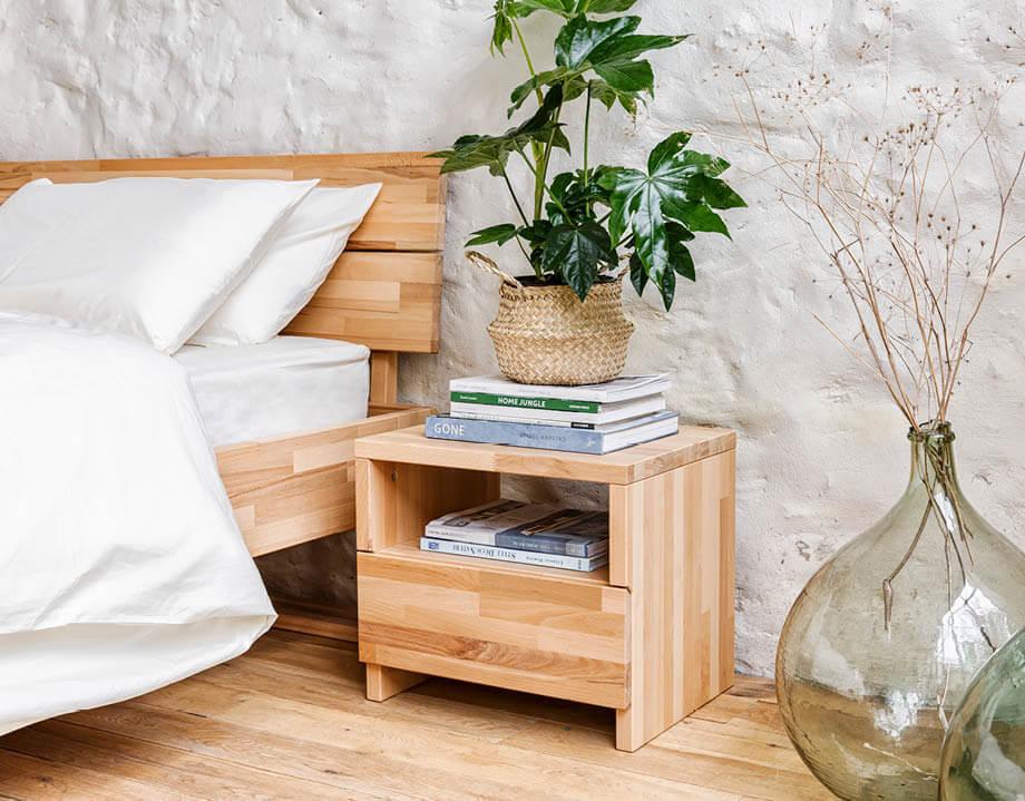 table de chevet bois massif