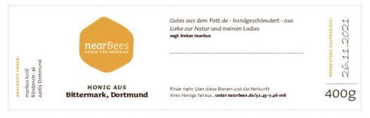 Standardisiertes Etikett der Plattform nearbees.de
