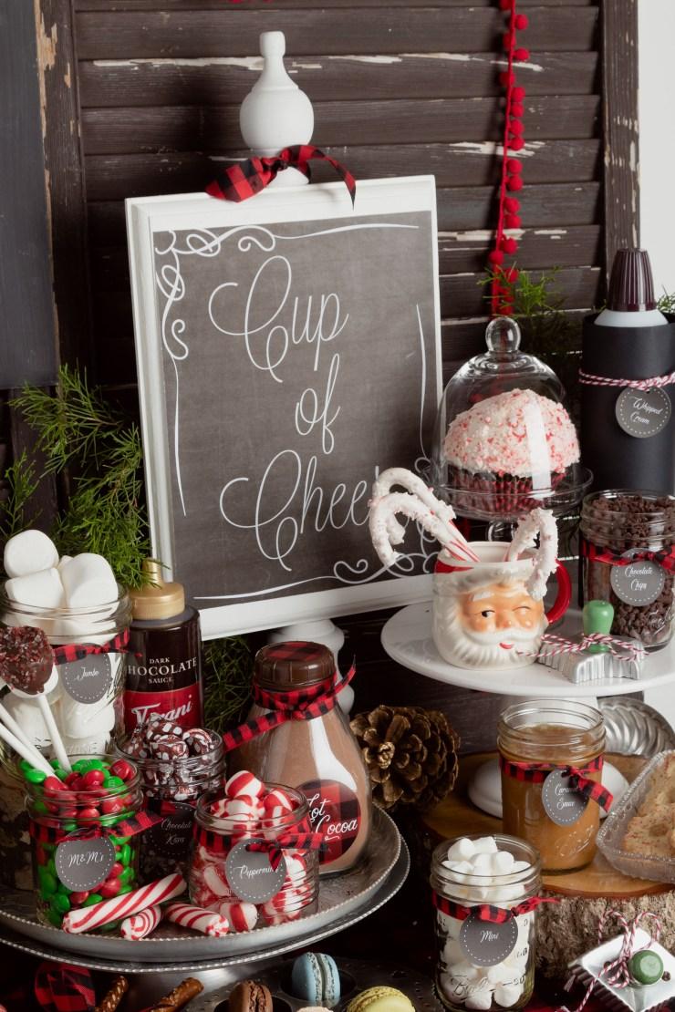 Hot Chocolate Bar Ideas for Christmas