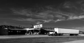 desert-center-cafe-with-truck-bw