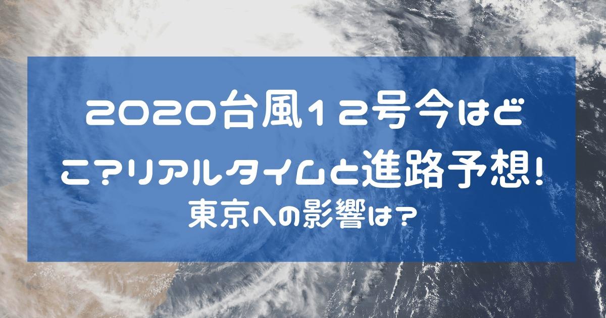 2020台風12号今はどこ?リアルタイムと進路予想!東京への影響は?