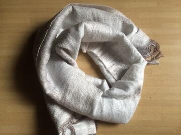 初めての織り物...