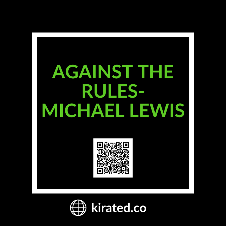 PODCAST: Against the Rules- Michael Lewis with QR Code TOP PODCASTS