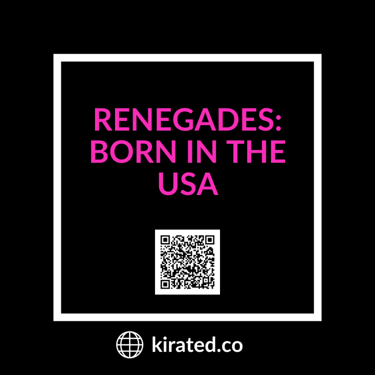 PODCAST: Renegades: Born in The USA with QR CODE TOP PODCASTS