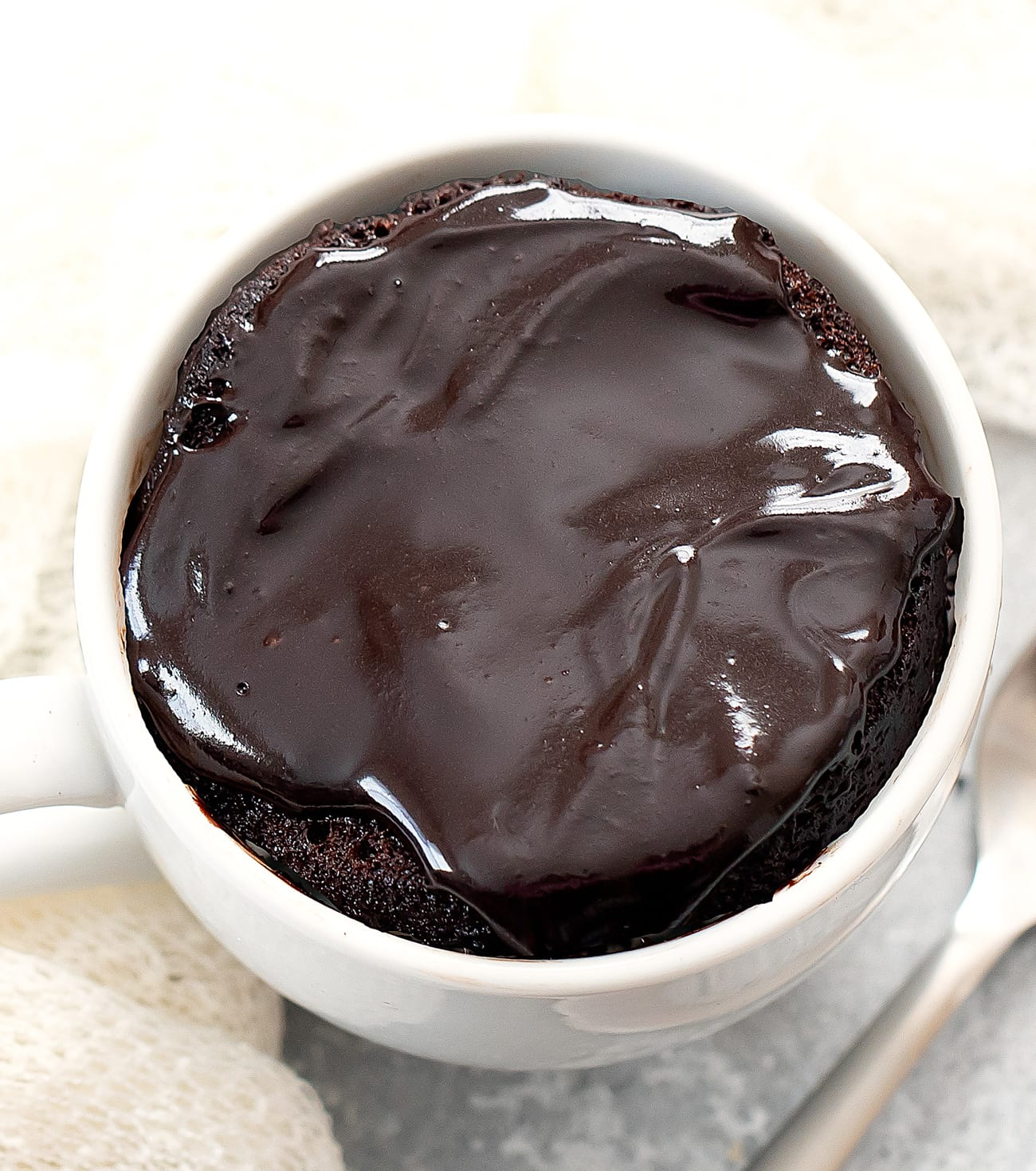 3 ingredient chocolate mug cake