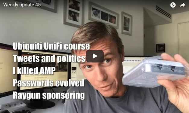 Video: Troy Hunt – Weekly update 45