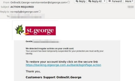Incident: St George Bank hit by email scam | iTWire