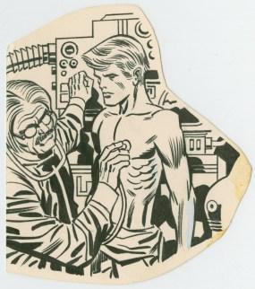 1977 Marvel Memory Album, Captain America original art detail