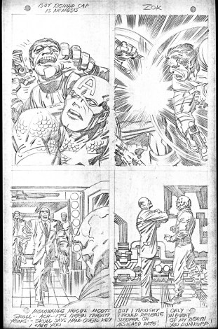 1968 May - When Wakes The Sleeper page 11 pencil art photocopy