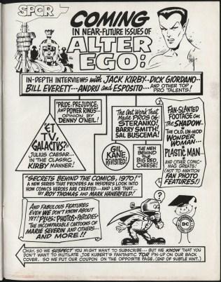 1969 - Alter Ego V1N10 inside back cover