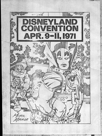 1971 - Disneyland Convention booklet cover pencil art photocopy