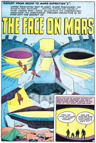 1958 - The Face On Mars initial splash