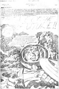 1976 - Captain America Bicentennial Battles page 63 pencil art photocopy