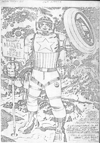 1976 - Captain America Bicentennial Battles page 82 pencil art photocopy