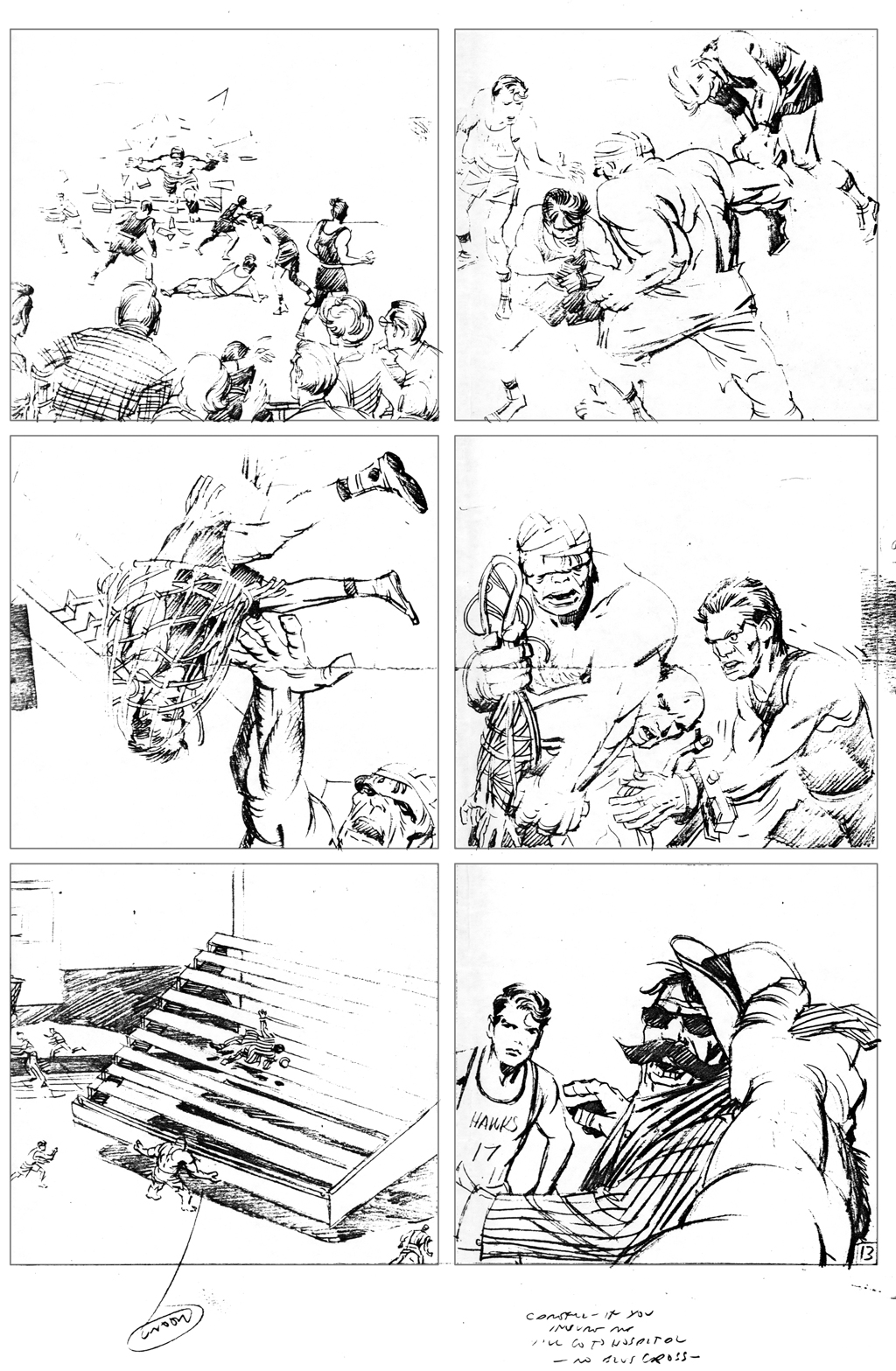 Two More Unused Hulk Pencil Pages From Surface