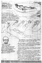 1973 - OMAC presentation page 2 pencil art photocopy