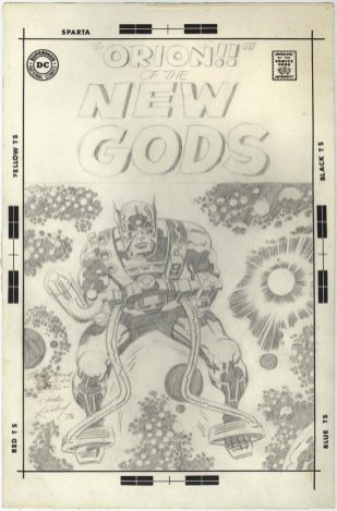 Orion Of The New Gods original pencil art