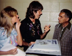 1976 - Linda McCartney, Paul McCartney, Jack Kirby