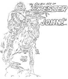 The Golden Age Of Prester John pencil art photocopy