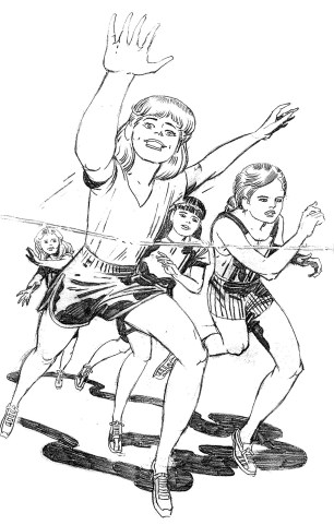 1983 - Unused Girl Runners pencil art