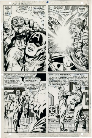 1968 May - When Wakes The Sleeper page 11 original art