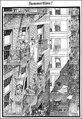 Winsor McCay's fanciful New York fire escape bedrooms