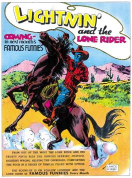 Lightnin' makes the comic books