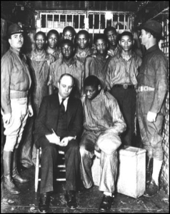 Scottsboro boys meet with lawyer
