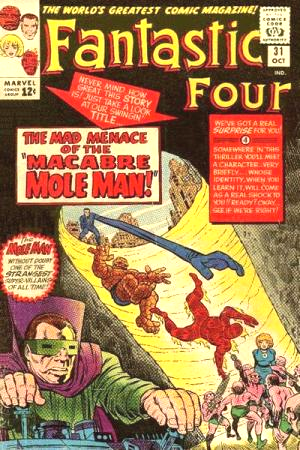 18 - FF Mole Man cover