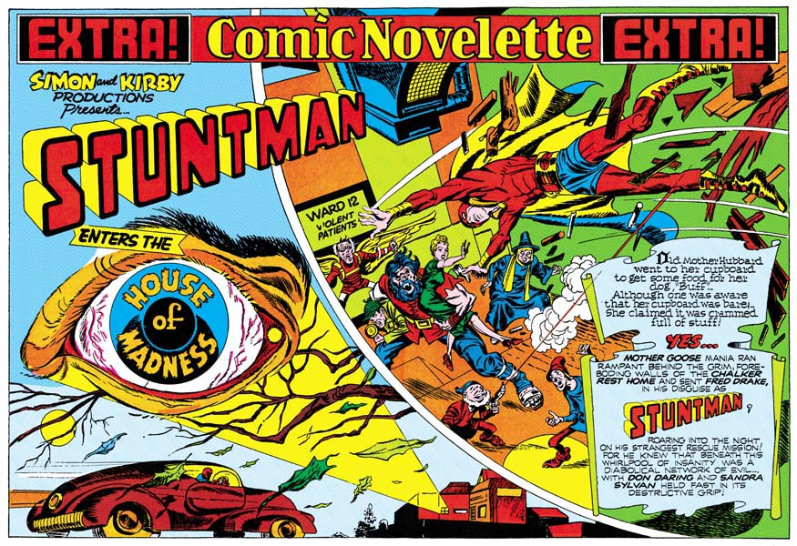 Image result for stuntman comic golden age