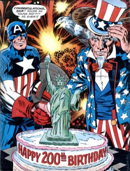 1976 - Captain America Bicentennial Battles back cover