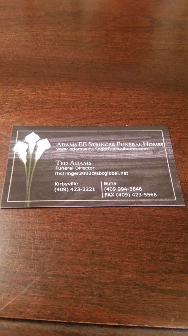Adams Funeral Home Kirbyville : adams, funeral, kirbyville, Adams, Stringer, Funeral, HomeLooker