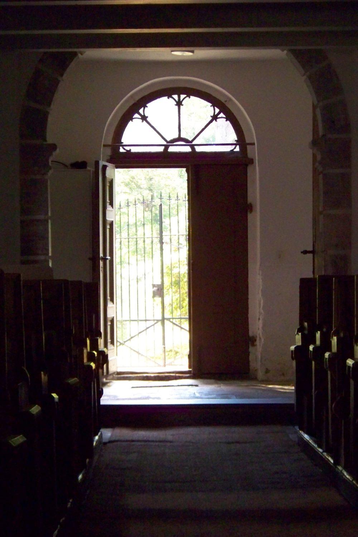 Kirchentür von innen