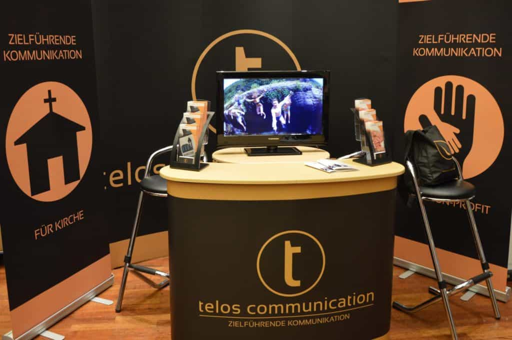 Infostand telos communication auf dem cologne business day