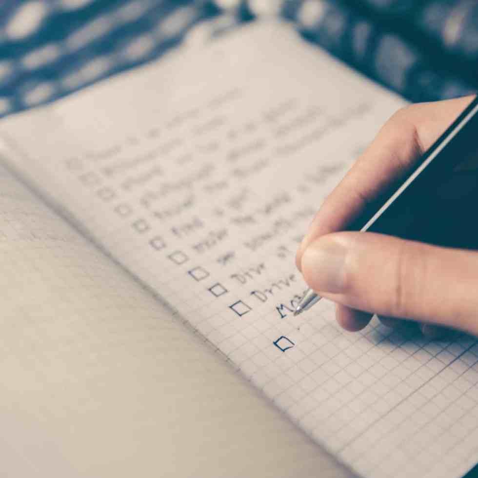 Eine Checkliste