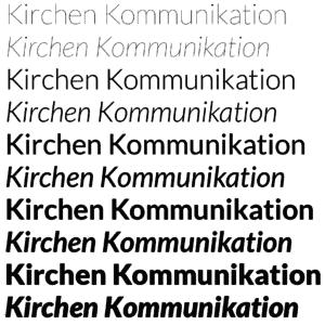Die Schriftart Lato   Kirchen-Kommunikation