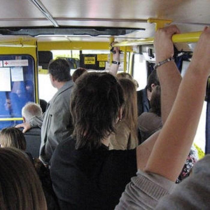 Пассажиры маршрутки