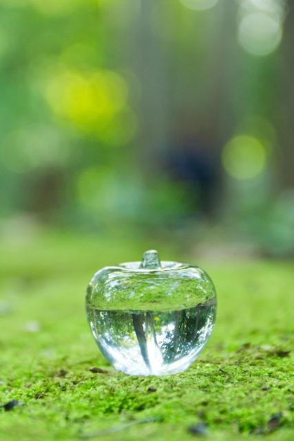 ガラス細工のリンゴ