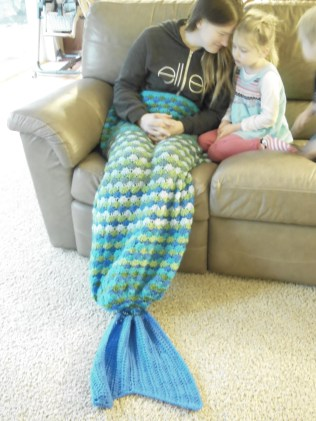 Rachel's mermaid blanket