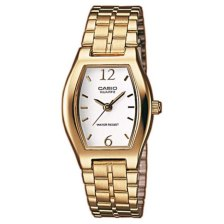 CASIO Collection Gold Plated Stainless Steel Bracelet LTP-1281PG-7AEF
