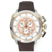 VISETTI Casino Royal Series Brown Leather Strap SN-SW504RG