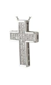 Σταυρός Βάπτισης Κ14 Λευκόχρυσος Γυναικείος ST2037
