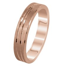 Ροζ Χρυσή Βέρα Γάμου WR299R