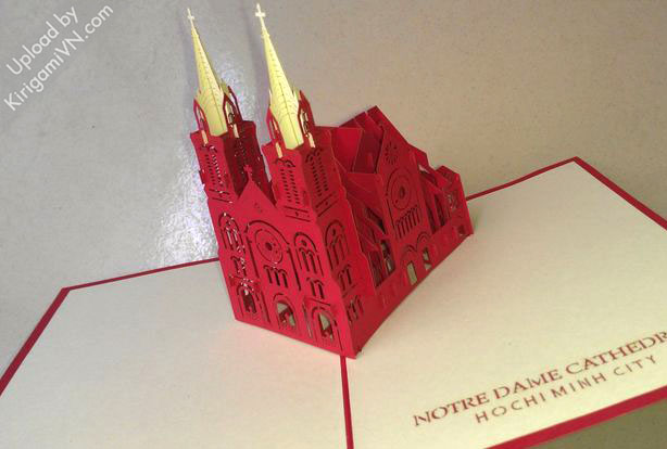 KirigamiVN Notre Dame cathedral pattern preview 2